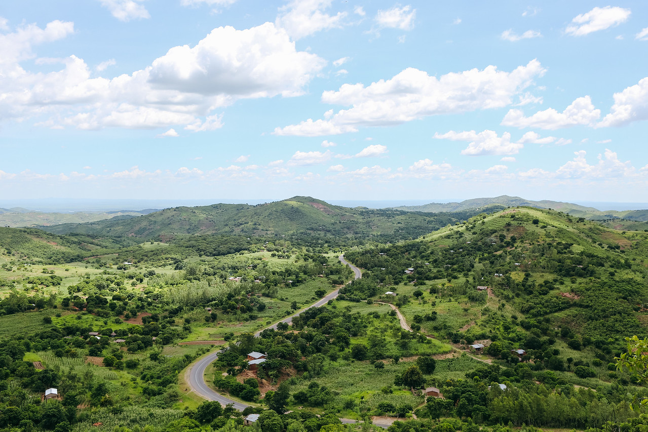 Overlooking a village in the district of Chikwawa, Malawi. Read more about our work in Malawi: https://www.waterforpeople.org/where-we-work/malawi