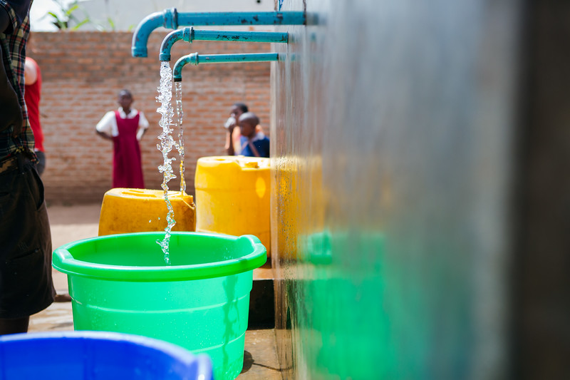 A community water point in Blantyre, Malawi.