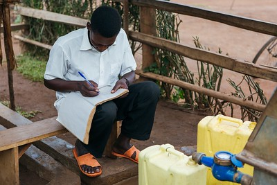 Laban is employed as a water seller in his community in Uganda. He maintains the tap and keeps meticulous records of water users. Read Laban's story: https://www.waterforpeople.org/stories/local-water-guardians-the-water-sellers#.WXIpgYgrIUE