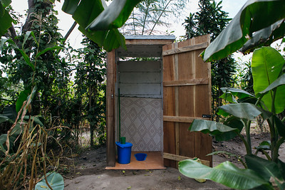 A latrine in Uganda. Learn more about our work with sanitation adn the importance of access to toilets: https://www.waterforpeople.org/stories/world-toilet-day#.WOVe7DsrKUk