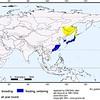 Mandarin breeding & wintering map (Eastern Asia)