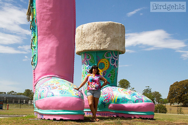weird monuments giant ugg boots maitland