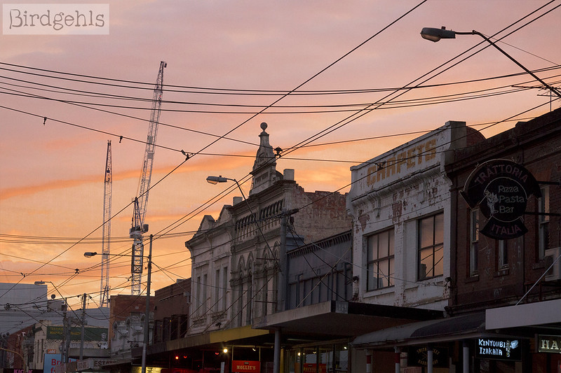 collingwood buildings sunset