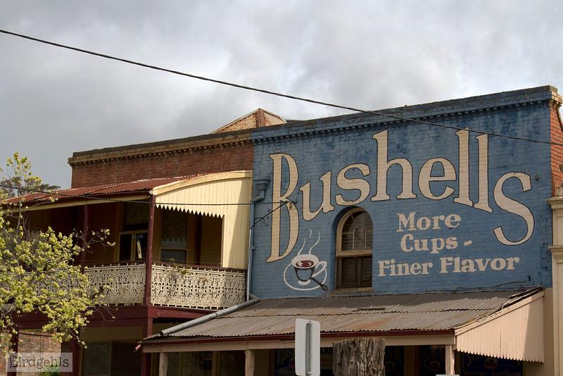 bushells sign maldon victoria