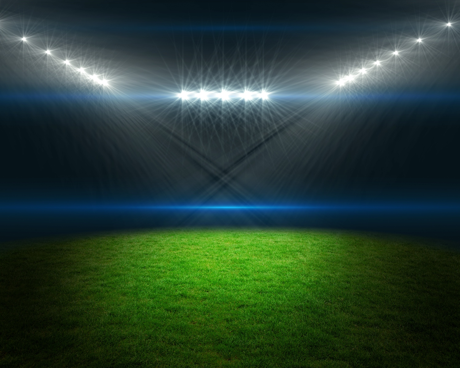 Football pitch with bright lights
