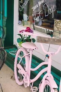 Margie's pink bike