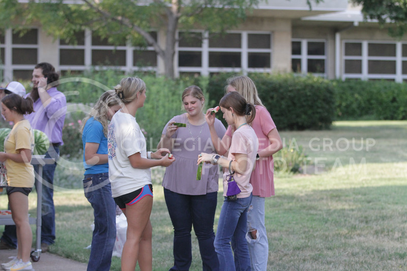 The College of Agriculture held their annual Watermelon Feed outside of Weber Hall on Tuesday, August 31. (Sophie Osborn | Collegian Media Group)