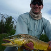 Mosko with an Upper Madison salmonfly eater.<br /> Photo: Eric Paulson