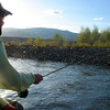 Doug McKnight fishing the Mothers Day Caddis hatch<br /> Photo: James Anderson