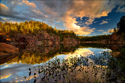 Little Sheguindah Lake, Killarney Provincial Park. Ontario.