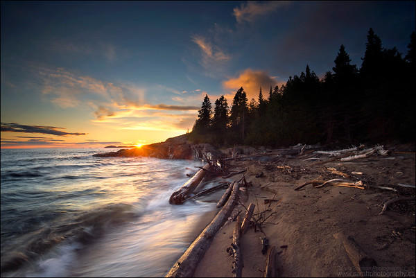 Lake Superior. Pukaskwa National Park, Ontario.