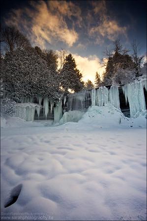 Bridal Veil Falls. Manitoulin Island Ontario.