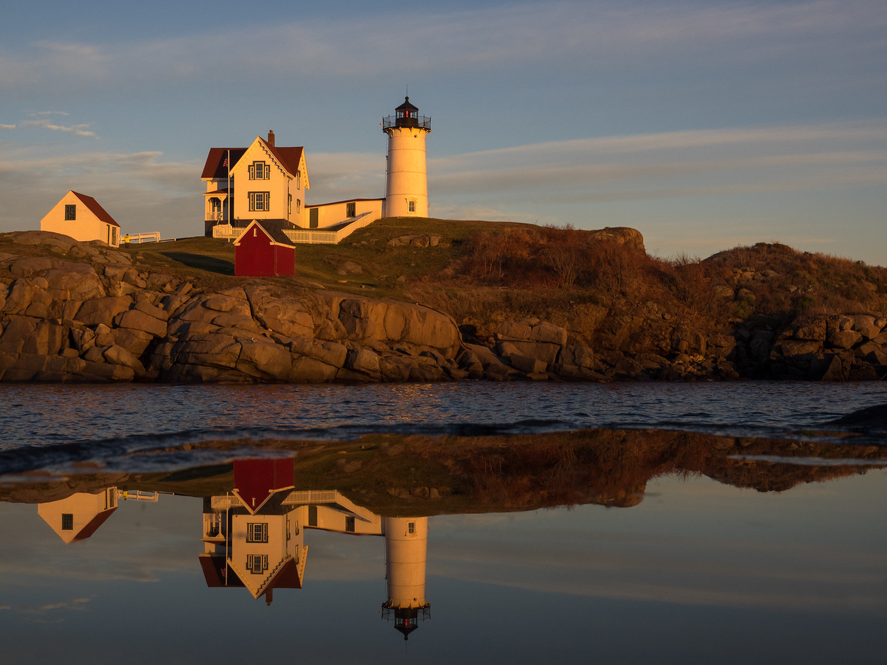 Mirrored Image  of Nubble Light