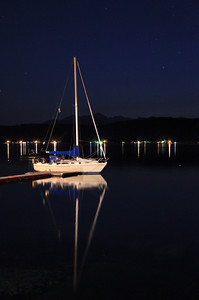 Sailboat at night
