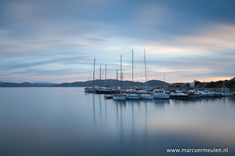 Small harbour at La Maddalena, Sardegna.