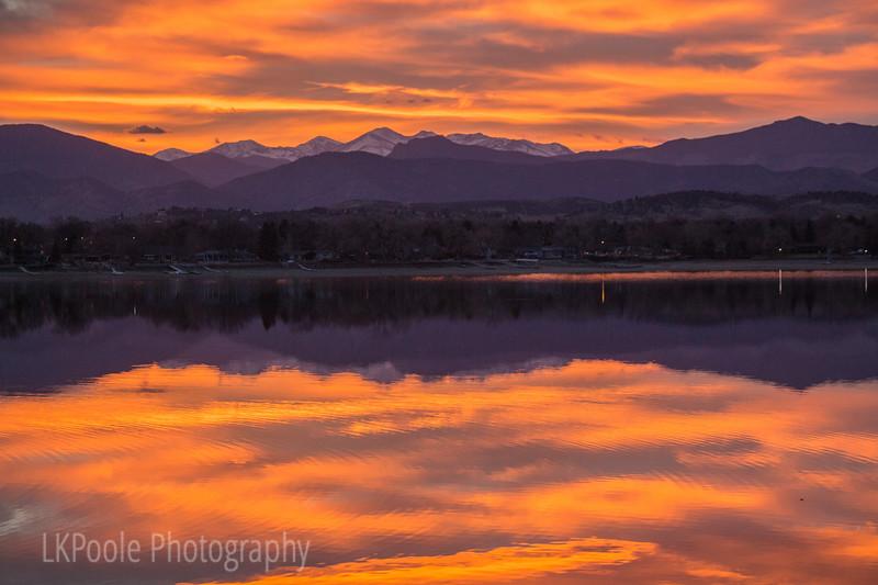 Sunset over Lake Loveland