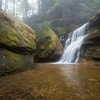 Hidden Falls located in Hocking Hills State Park on a foggy February morning.
