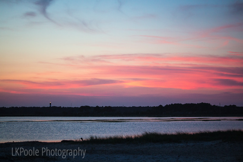 Assateague Light across the Bay