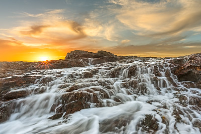 Palos Verdes sunset water flow