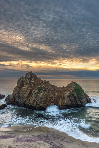Mattamus clouds at sunset, Pfeiffer Beach Big Sur