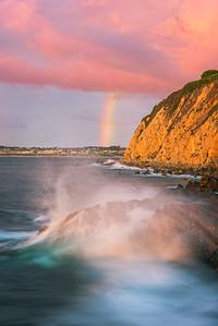 Palos Verdes rainbow seascape