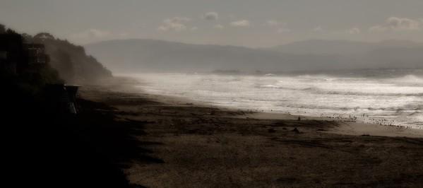 Sea Cliff through the Mist