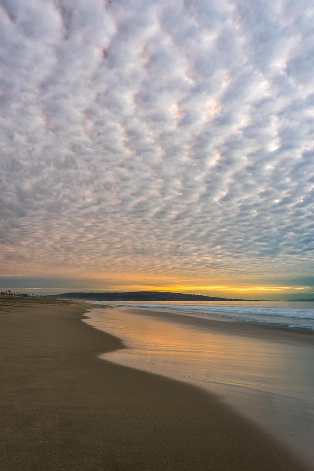 Manhattan beach pier cloudscape