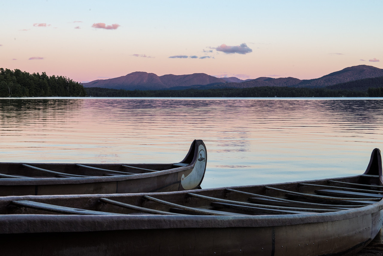 Canoes at Sunset