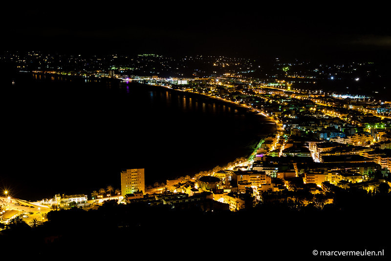 Javea, Spain, at night