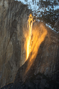 Firefalls close up, Yosemite National Park