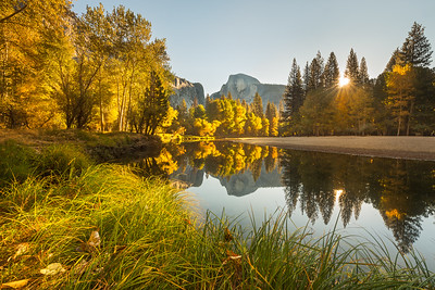 Fall sunrise in Yosemite Valley
