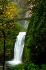 Multnomah Falls Watercolor