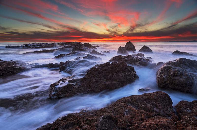 Long Exposure sunset, Palos Verdes CA