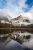 Yosemite Falls storm clearing reflection