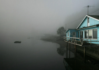Beach House in Fog