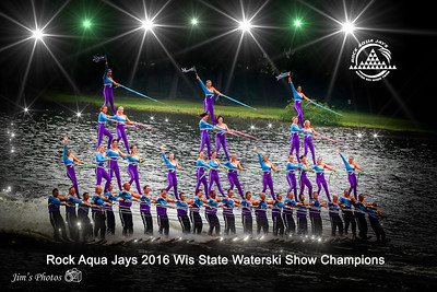 Waterski - Rock Aqua Jays - July 24, 2016 Wis State Tournament