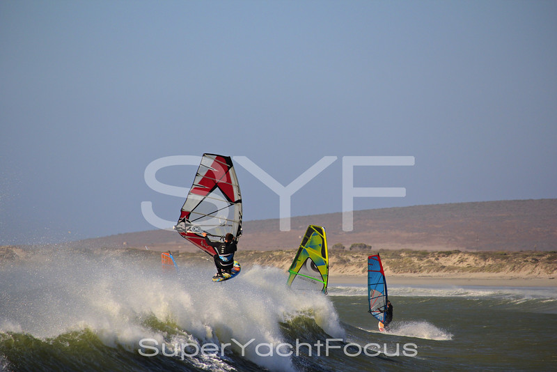 Windsurfing in Paternoster, South Africa