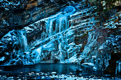 Waterton National Park, Ice Falls