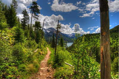 Bertha Lake Trail in Waterton Park
