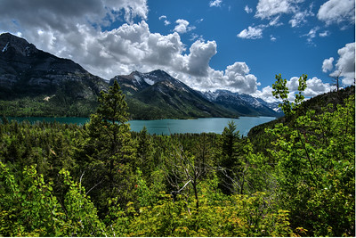 Waterton Lake as seen from the Bertha Lake Trail