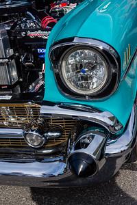 Blue Chevy Headlight
