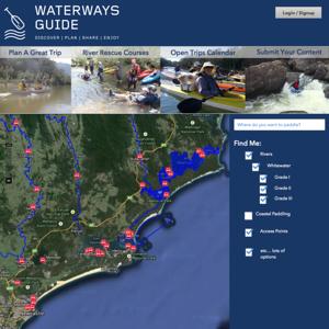 waterways guide mockups