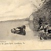 Fishing on the James River Postcard (03331)