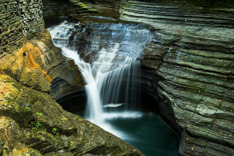 Watkins Glen Falls  in Color