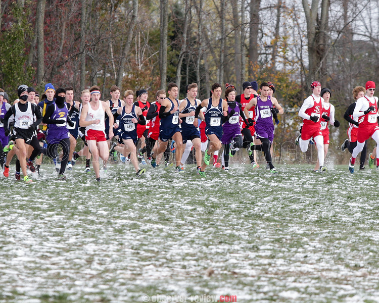 November 11, 2017; Wayne, NY; USA; NYSPHSAA Class C Boys Cross Country Championship at Wayne High School. Photo: Christopher Cecere