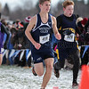 November 11, 2017; Wayne, NY; USA; Max Evans (415) during the NYSPHSAA Class C Boys Cross Country Championship at Wayne High School. Photo: Christopher Cecere