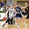 Hannah Morse drives the ball past a Thousand Islands defender. Photo by Don Romeo.