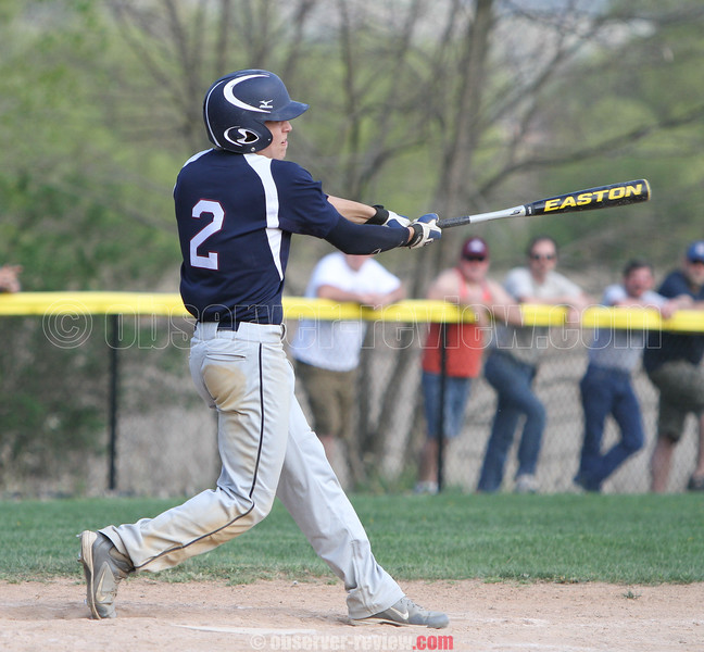 Action during the Watkins Glen and Newfield baseball game, May 8, 2015.
