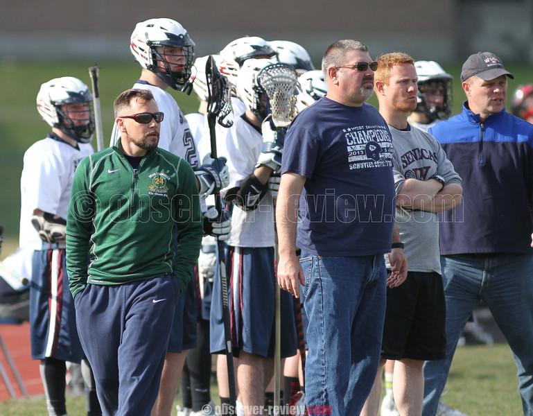 Action during the Watkins Glen vs. Elmira lacrosse game, April 17, 2015.