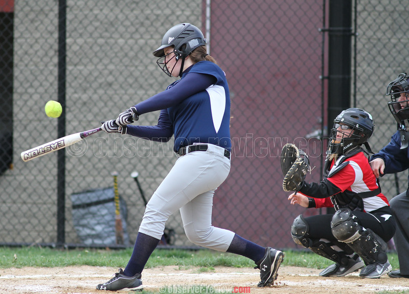 Action during the Watkins Glen vs. Spencer-Van Etten softball game, May 13, 2015.